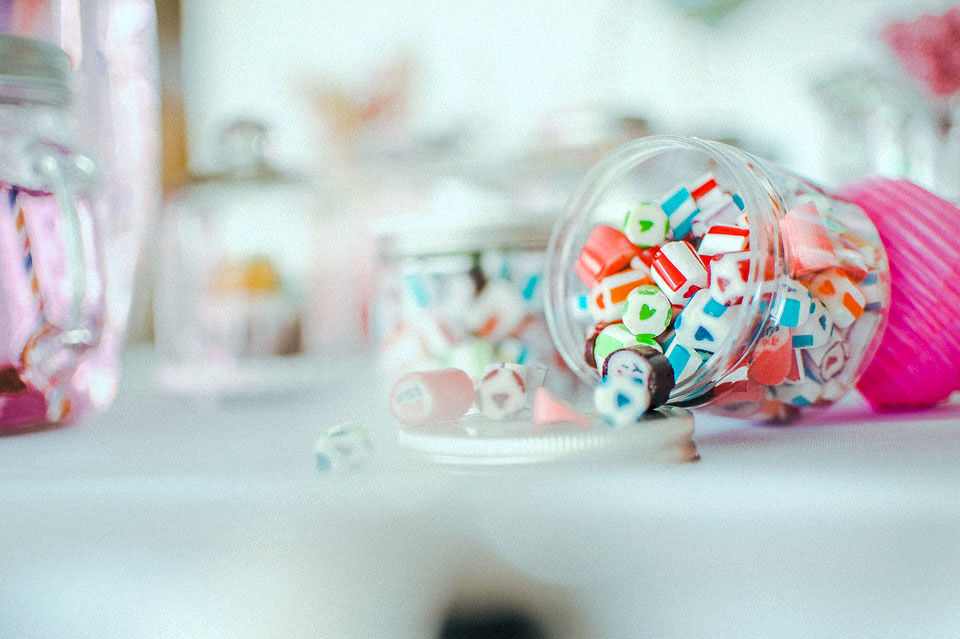 Kamellebuedchen Shop Hochzeit Herzbonbons neu