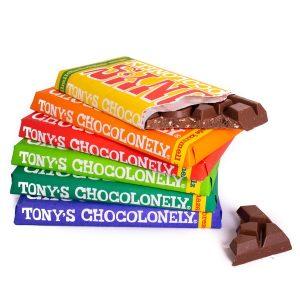 Sixpack Tony's Chocolonely Schokolade