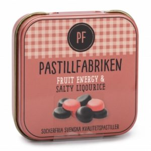 Kamellebuedchen Shop Lakritz Pastillfabriken Frukt und Saltlakrits Salzlakritz Fruchtlakritz Metalldose
