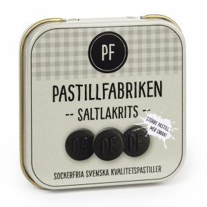 Kamellebuedchen Shop Lakritz Fudge Schokolade Pastillfabriken Saltlakrits Salzlakritz Metalldose
