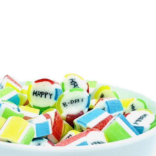 Kamellebuedchen Shop Handgemachte Bonbons Bonbons Einzelsorten Happy Birthday Bulk