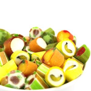 Kamellebuedchen Shop Handgemachte Bonbons Bonbons Mixsorten Tropische Fruechtchen Bulkware