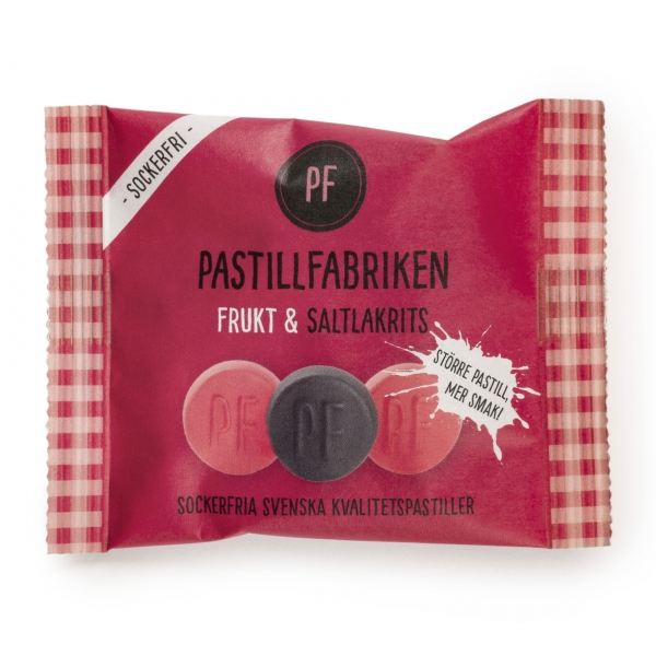 Pastillfabriken Frukt und Saltlakrits Salzlakritz Fruchtlakritz Tüte