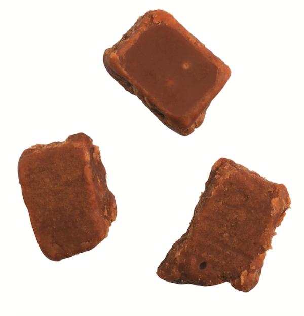 Kamellebuedchen Shop Fudge Toffee Cartwright and Butler Salted Caramel Fudge Detail