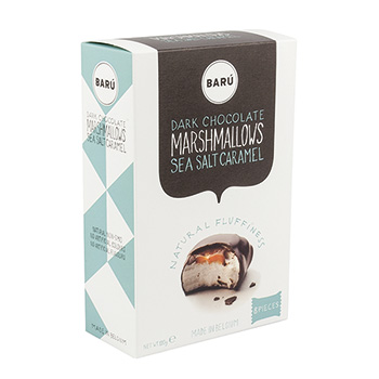 Kamellebuedchen Shop Marshmallow Baru Dark Chocolate Marsmallows Sea Salt Caramel Box groß