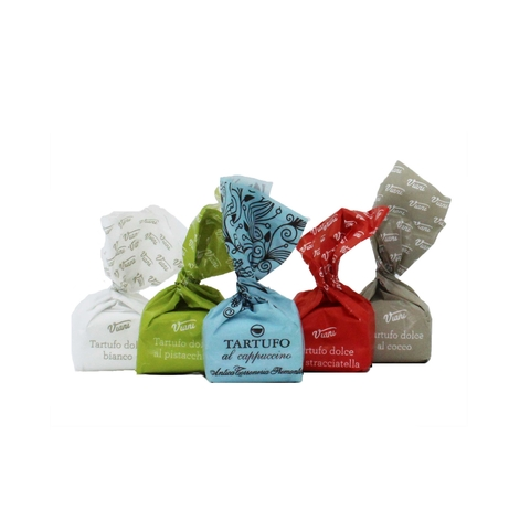 Kamellebuedchen Shop Lakritz Fudge Schokolade Tartufo set hintereinander