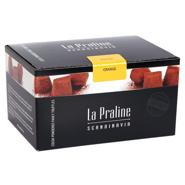 Kamellebuedchen Shop Lakritz Fudge Schokolade La Praline Schokotrüffel Orange geschlossen