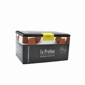 Kamellebuedchen Shop_Schokolade Pralinen La Praline Schokotrüffel Orange geschlossen