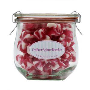 Weingummi-Bärchen: Erdbeer-Sahne