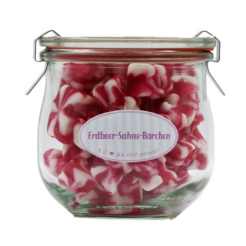 Kamellebuedchen Shop Weingummmi Süßes Weingummi Erdbeere Sahne Baerchen