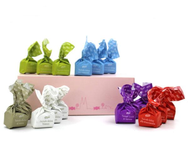 Kamellebuedchen Shop Schokolade Pralinen Minibox Tartufo Box