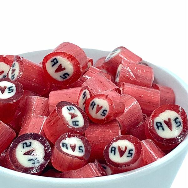 Kamellebuedchen Shop Handgemachte Bonbons Personalisierte Bonbons RoterMantel Erdbeere Bulk