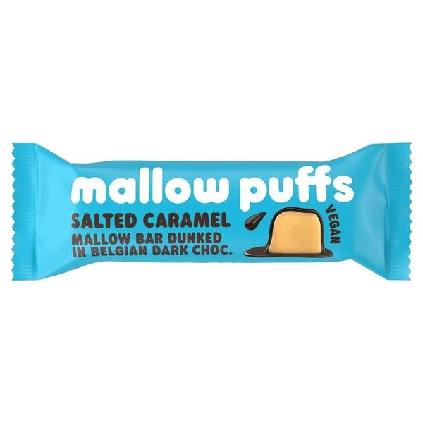 Kamellebuedchen Shop Marshmallow Mallow puffs Riegel Salted Caramel Marsmallows einzelnd