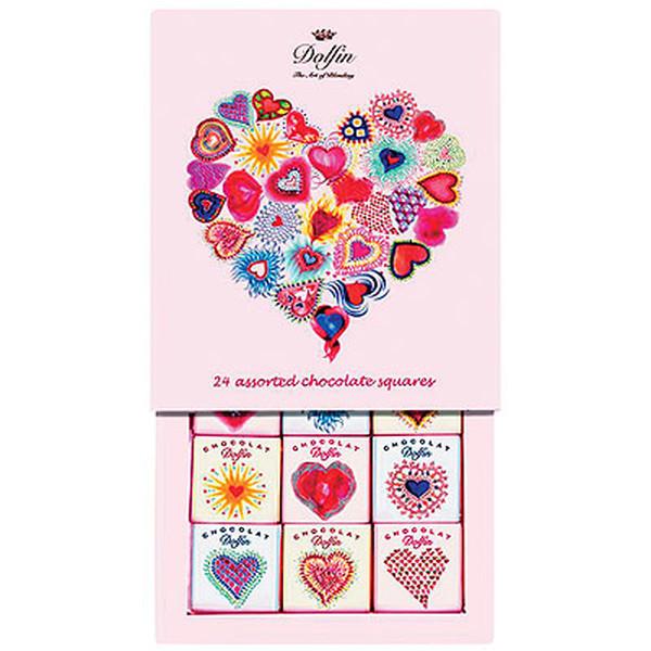 Kamellebuedchen Shop Schokolade Dolfin Carré24 Love Mini Schokoladentafel Set