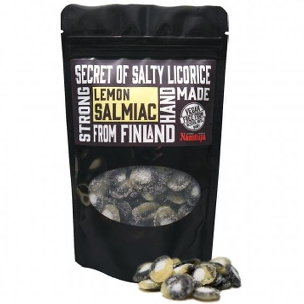 Kamellebuedchen Shop Lakritz Candyfactory Namitupa Finnisches Salzlakritz Lemon Salmiac Tüte