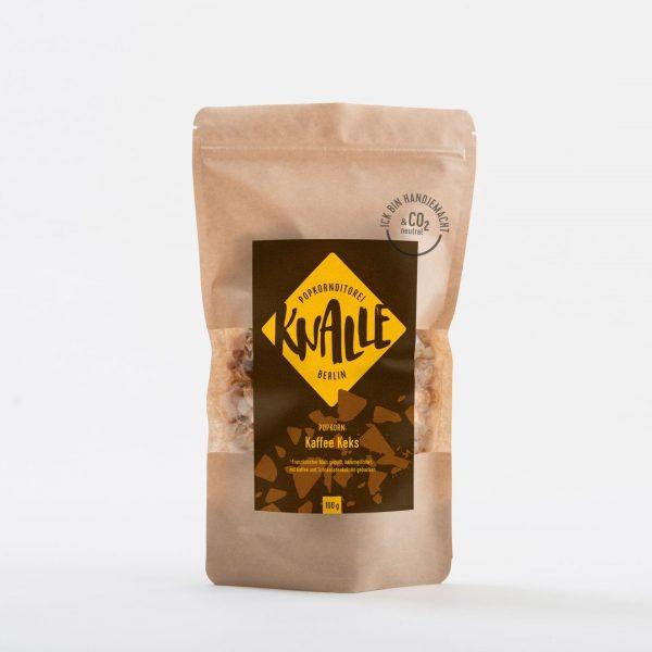 Kamellebuedchen Shop Popcorn Knalle Kaffee Keks Tüte 100g