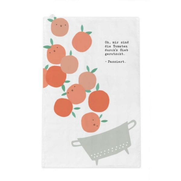 Kamellebuedchen Shop Textiles Grafik Werkstatt Geschirrtuch Tomaten