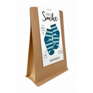 Coole Socke: Blaue Ringelsocken