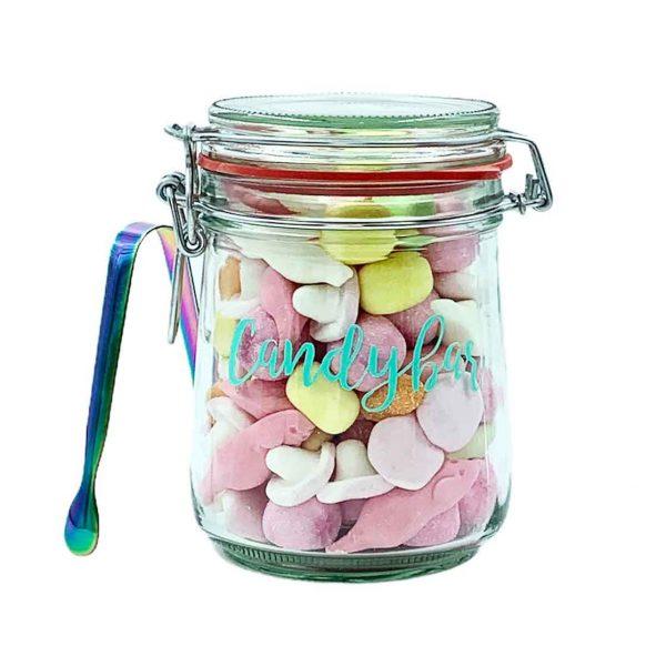Mini Candybar Süßes Weingummi und Zange