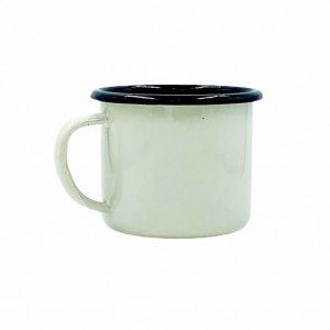Emaille-Becher von Plain B.: Cream