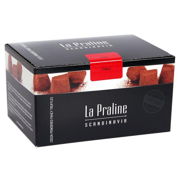 Kamellebuedchen Shop Schokolade Pralinen LaPralin Schokotrüffel Chili geschlossen