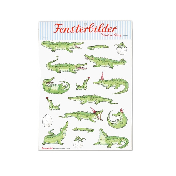 Kamellebuedchen Shop Krima & Isa Fensterbilder Krokodil