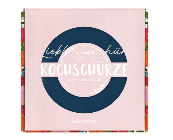 Kamellebuedchen Shop Textiles Grafik Werkstatt Kochschürze Lieblingsschürze Verpackt