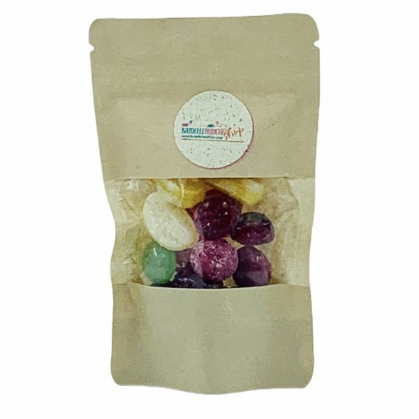 Kamellebuedchen-Shop-Handgemachte-Bonbons_Zuckerfreie Bonbons-Süße-Früchtchen-Doypack