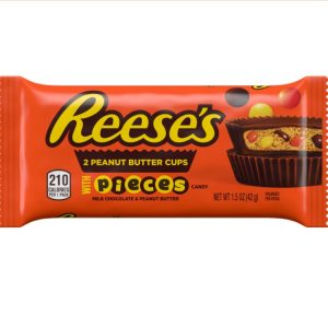 Kamellebuedchen-Shop-American-sweets-Reese's-Peanut-Butter-Cups-With-Pieces-Tüte