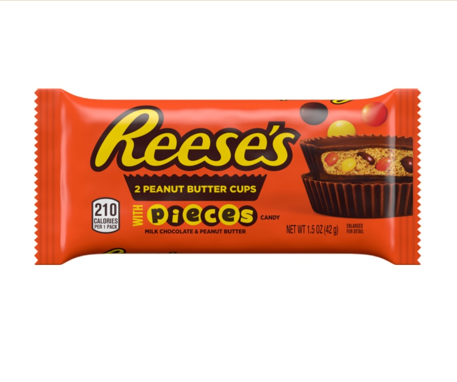 American sweets Reese's Peanut Butter Cups With Pieces Tüte
