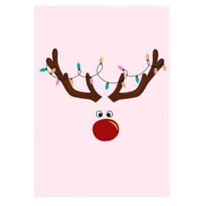 """Weihnachtskarte """"Rentier"""""""