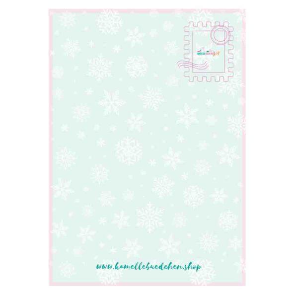 Kamellebuedchen Shop Grußkarten Weihnachtskarte Ruecken