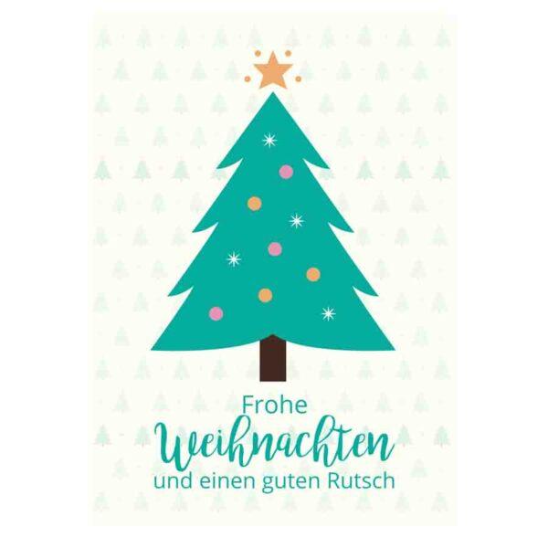 Kamellebuedchen Shop Grußkarten Weihnachtskarte Tanne