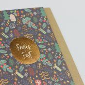 Kamellebuedchen Shop Grußkarten Weihnachten Weihnachtskarte Klappkarte Frohes Fest Detail