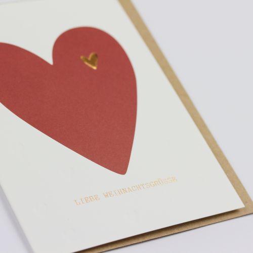 Kamellebuedchen Shop Grußkarten Weihnachten Weihnachtskarte Klappkarte Liebe Weihnachtsgrüsse Detail