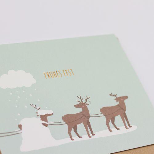 Kamellebuedchen Shop Grußkarten Weihnachten Weihnachtskarte Klappkarte Rentiere Frohes Fest Details