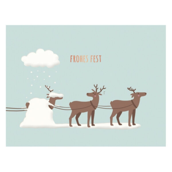 Kamellebuedchen Shop Grußkarten Weihnachten Klappkarte Rentiere Frohes Fest Neu