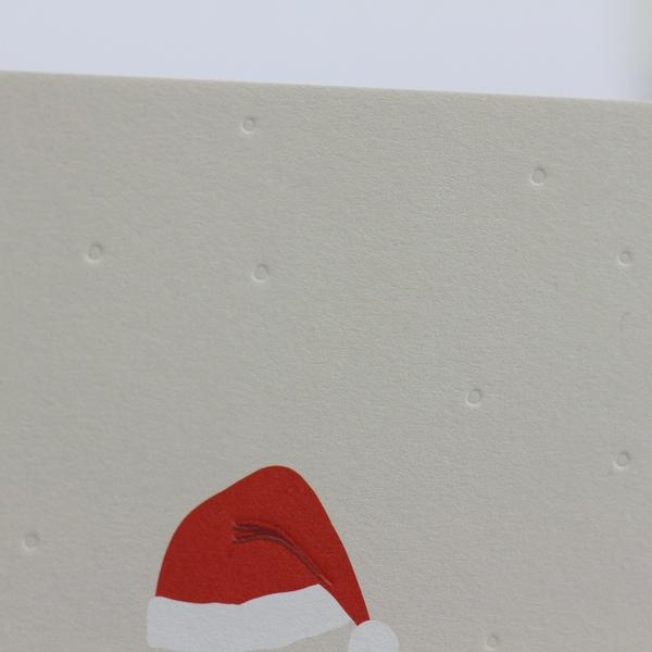 Kamellebuedchen Shop Grußkarten Weihnachten Postkarte Weihnachtsmannmütze Frohe Weihnachten Detail