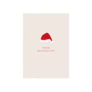 "Edle Papp-Postkarte ""Frohe Weihnachten"""